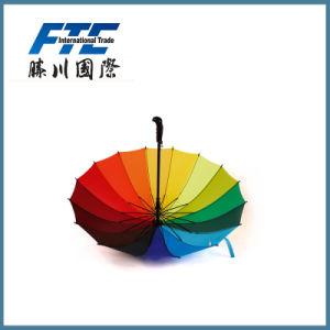 Outdoor Custom Printing Business Rainbow Big Umbrella pictures & photos