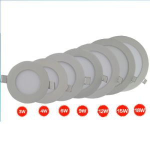 Round Recessed LED Panel Down Light 3-24W with CREE LED