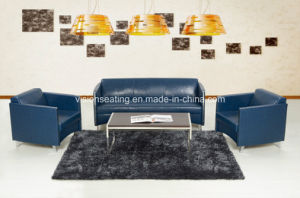 Stainless Steel Reception Lobby Leather Sofa Sets (9038) pictures & photos