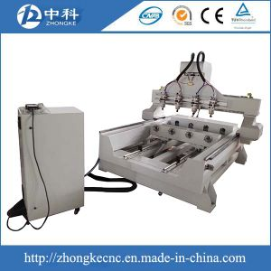 4 Axis 3D CNC Router with 4 Heads pictures & photos