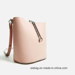 New Trendy Nude Color Bucket Bag Leisure Lady Shoulder Bag pictures & photos