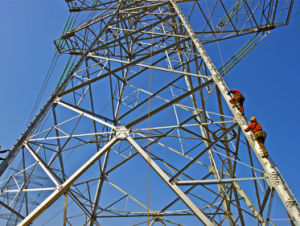 Overhead Electric Power Transmission Line Angular Lattice Steel Tower pictures & photos
