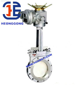 API/DIN Stainless Steel Electric Actuator Flange Wafer Knife Gate Valve