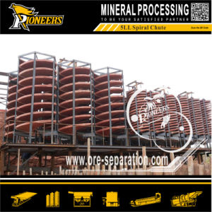 Placer Mining Spiral Chute Concentrator Gravity Mineral Sorting Machine