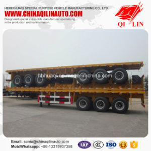 Factory Design 12m Length Flat Bed Semi Trailer pictures & photos