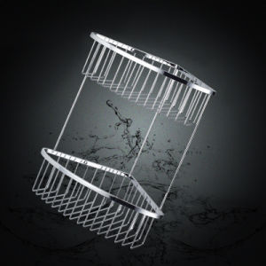 Chrome Plated Bathroom with Two Layer Basket (SUS304) pictures & photos