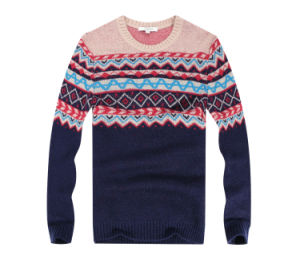 New Design Men′s Windproof Jacquard Sweater Mens Knitwear for Christmas Gift pictures & photos