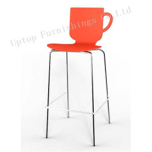 Orange Coffee Cup Plastic Bar Chair for Sale (SP-UBC278) pictures & photos