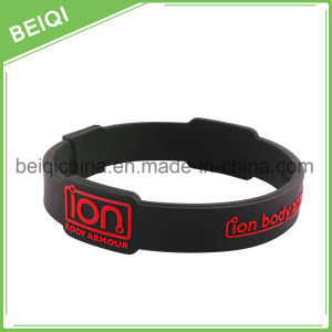 Custom Promotional Silicon Bracelet, Adjustable Silicon Wristband, Promotion Wrist Band pictures & photos