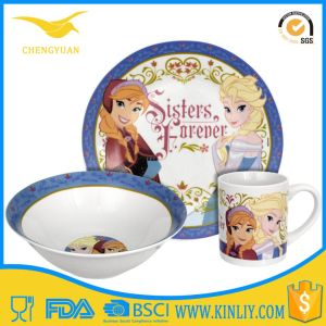 Frozen Sisters Gift Dinnerware Dinner Set Ceramic with Ce Certificated pictures & photos
