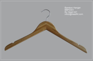 Hh 42cm Hotselling Wooden Hanger for Coat, Wooden Clothes Hanger pictures & photos