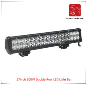 LED Car Light of 17inch 108W Double Row LED Light Bar Waterproof for SUV Car LED off Road Light and LED Driving Light pictures & photos
