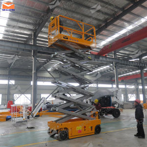 10m Mobile Electric Scissor Lift for Sale pictures & photos