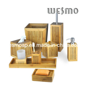 Hollowed-out Bamboo Bathroom Set (WBB0328A) pictures & photos