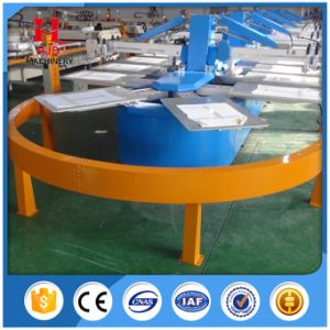 Oval Automatic Textile Screen Printing Machine of T-Shirt with 8 Colors pictures & photos