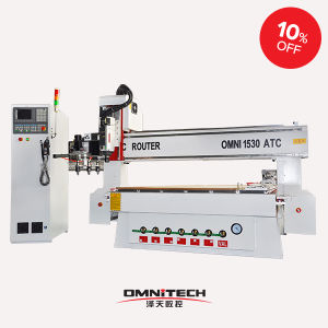 New Design Woodworking CNC Machine with Auto-Tool Changer