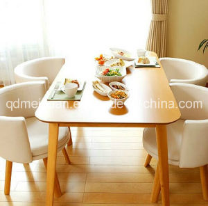 Solid Wooden Dining Table Living Room Furniture (M-X2417) pictures & photos