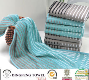Hot Selling Satin Series Stripe 100% Bamboo Towels pictures & photos