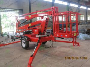 Mobile Boom Lift with Four Supporting Leg pictures & photos