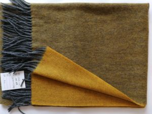 Cashemre Wool Thin Reversible Woven Brushed Shawl pictures & photos