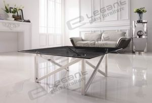12mm Grey Tempered Glass Table (CA817B) pictures & photos