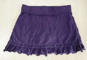 Women Fashion Apparel Cotton Medium Waist Mini Skirt pictures & photos