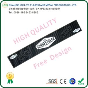 Free Design High Quality Custom Logo Print PVC Rubber Bar Mat pictures & photos