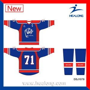 Healong ODM Dye Sublimated Sublimation Ice Hockey Jersey pictures & photos