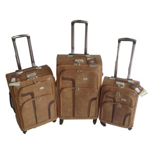 PU 4 Wheels Leather Bags Trolley Case Jb-D008 pictures & photos