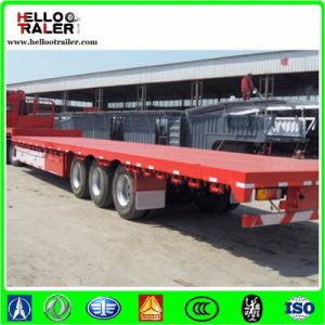 China Container Frame Trailers 3 Axles 40FT Flatbed Semi Trailer pictures & photos