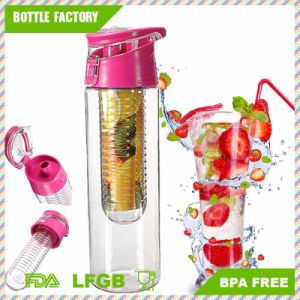 Easy-Catch Plastic Fruit Bottle with Handle BPA Free 24oz pictures & photos