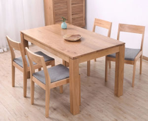 Oak Wood Dining Set with Simple Style and Low Price (M-X1095) pictures & photos
