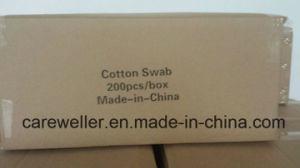 Cotton Applicator/ Plastic Stick Cotton Applicator/ Double Head Cotton Applicator for Cosmestic Use pictures & photos