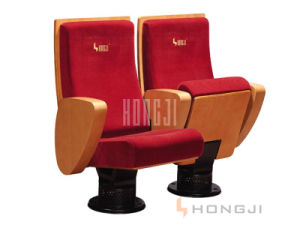 VIP Auditorium Hall Seating, Music Hall Seat with Wood Armrest pictures & photos