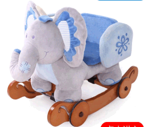 Double Function Wooden Rocking Animal-Elephant Rocker with Safeguard pictures & photos
