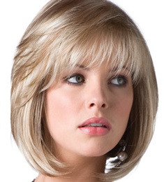 Kanekalon Fibre Blonde Color Machine Made Synthetic Hair Wig