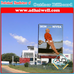 Double Support Column Outdoor Advertising LED Lighting Billboard pictures & photos