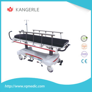 Luxurious Hydraulic Patient Transfer Medical Trolley/Stretcher Cart pictures & photos