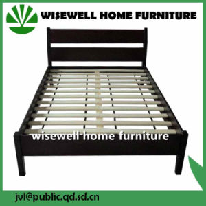 Pine Wood Double Bed Hotel Furniture (WJZ-B77) pictures & photos