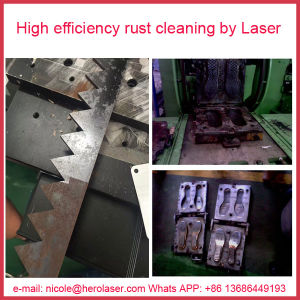 500W Fiber Laser Cleaning Machine for Removing Surface Paint/ Oil Stain/ Coating Surface/ Welding Surface/ Rubber Mold pictures & photos