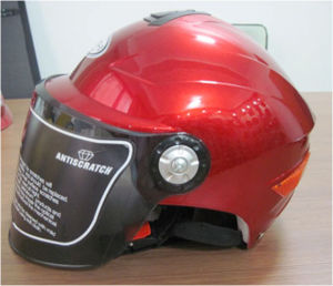Motorcycle Half Face Summer Cap Helmet with Double Visors