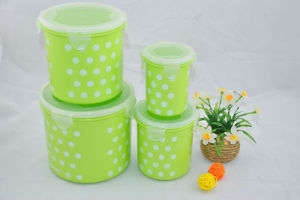 4PCS Cylindrical Microwave PP Food Container pictures & photos