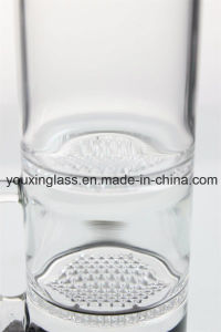16.5′′ Glass Smoking Pipe with Blcak Base and White Honeycomb pictures & photos
