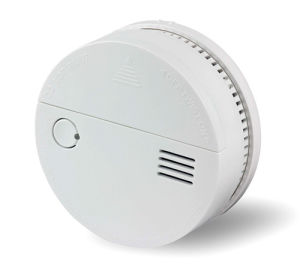 3V Battery Powered Optical Smoke and Co Detector with Dual Sensors and Test & Hush Button