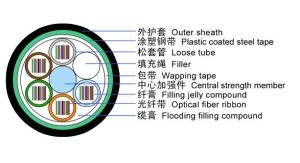 Layer Stranded Optical Fiber Ribbon Cable for Access Network pictures & photos