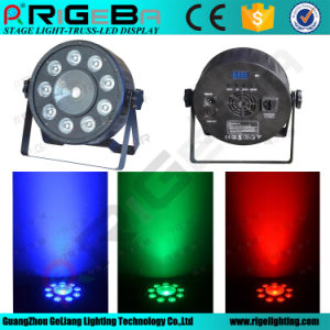 New Design 9X3w RGB 3in1 Wedding Decoration Stage LED PAR Wash up Light pictures & photos