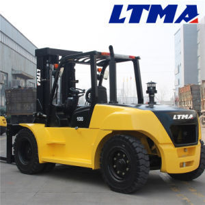 12 Ton 10 Ton Diesel Forklift Truck with Isuzu Engine pictures & photos