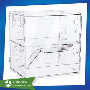 2 Tiers Luxury Acrylic Custom Handmade Hamster Cage Boxes pictures & photos