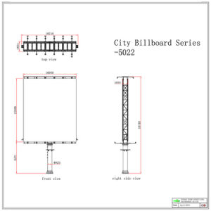Waterproof Double Side Spot Light Unipole Billboard with Solar Enegry pictures & photos