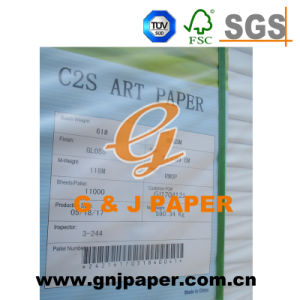 90GSM 115GSM 148GSM Glossy Coated Art Paper for South-American Market pictures & photos
